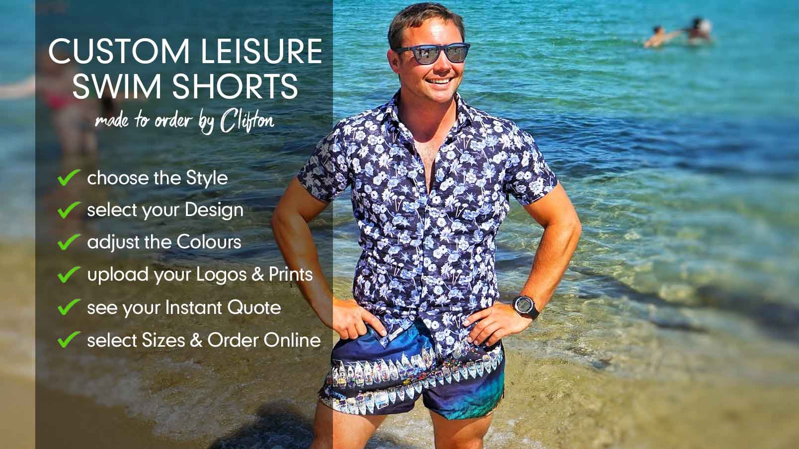 94568be39f Create Your Own Swim Shorts | CLIFTON