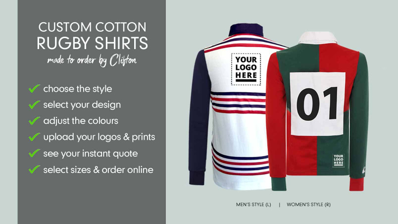 Custom Retro Look Leisure Rugby Jersey | CLIFTON